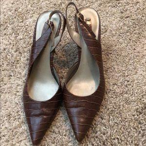 Nine West slingback heels